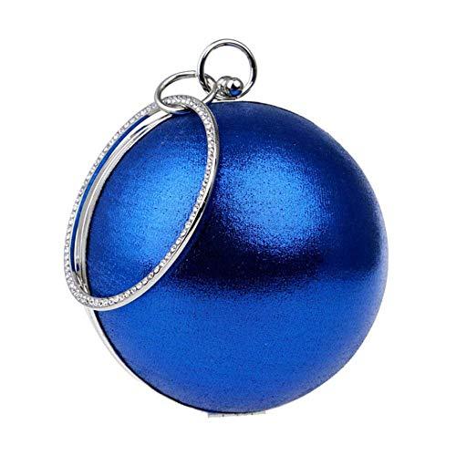 XBTMY Frauen Acryl Tasche Mini Runde Kugelform Geldbörse Abendtasche Clutch Handtasche Frauentasche (Color : Blue)