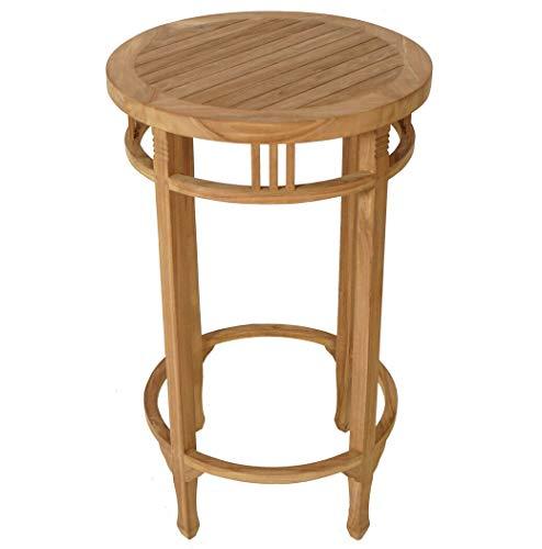 YJYDD Teak Stehtisch rund Bartisch Gartenmöbel Gartentisch Bistrotisch Holz Tisch