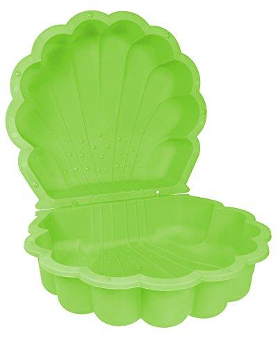 Ondis24 Sandmuschel Wassermuschel grün 87 x 78 x 20 cm Sandkasten Planschbecken 2-teilig