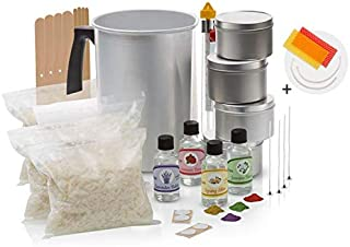 Momila Soy Wax Candle Making Kit –Complete DIY Kit w/All Candle Making Supplies + 2 Bonus Beeswax Candles. Includes 2 LB All-Natural Soy Wax, Melting Pot, Candle Tins, Dye Blocks, Fragrances & More.