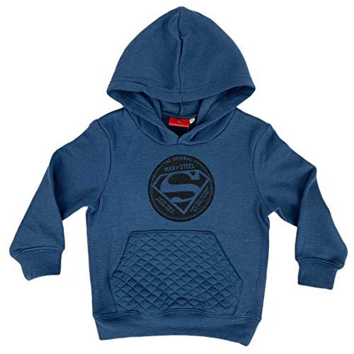 DC Comics - Sudadera Oficial con Capucha, Estampado de Superman para niño, Original 1261 Azul 3 años