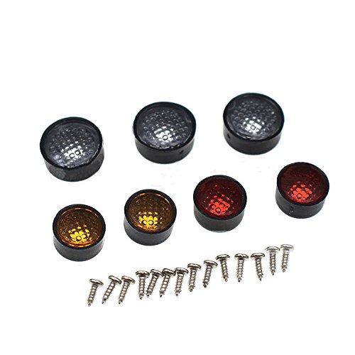 AXspeed 7PCS runde Lampen-Schalen Lampenschirm für 1/10 D90 3mm Light-Lichter