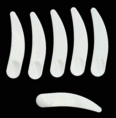 Bekith 600 Pack Disposable Facial Spatulas Mask Scoop Plastic Cosmetic Spatula for Mixing and Sampling (White)