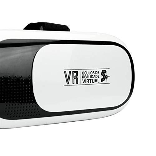 Oculos Realidade Virtual 3D - Branco, 5+, 015-0046, branco/preto