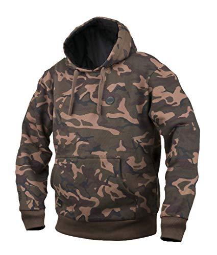 Fox Chunk Camo Lined Hoody Pullover, Angelpullover, Angelbekleidung zum Karpfenangeln, Pulli, Sweatshirt, Kapuzenpullover, Hoodie, Größe:L