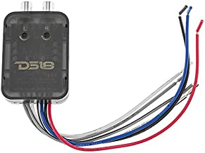 DS18 V2HL 2-Channel Line Out Converter, High-Level Speaker Signal to Low-Level RCA Adapter with Built-in Audio Sensing Technology; Produces Remote Trigger Output to Control Your Aftermarket Equipment