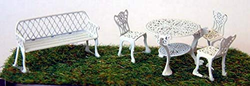 Langley modelli battuto ferro giardino mobili OO scala non verniciata modello Kit F133