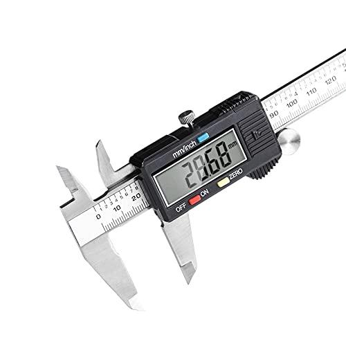ZYY 0-150mm Digital Vernier skjutmått mikrometer Paquimetro Electronic LCD mätverktyg Caliper (Color : With box)