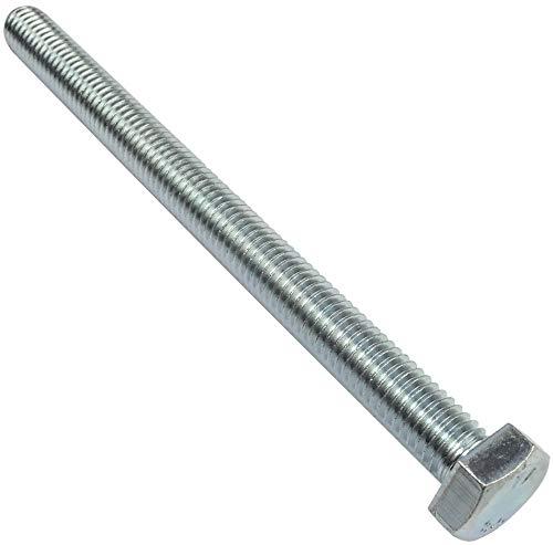 AERZETIX - Juego de 20 Pernos M8x100 - Cabeza Hexagonal - Ø8x100mm - DIN 933 - Clase 8.8 - Acero galvanizado - Bricolaje - Herramienta de montaje/Ferretería - C47337