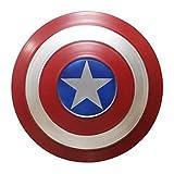 ABDOMINAL WHEEL Avengers Capitán América Shield Metal 32Cm Réplica de Marvel Prop,Apoyos de Mano de Superhéroe de Juegos de rol para Niños,Escudo de Pared Retro Creativo