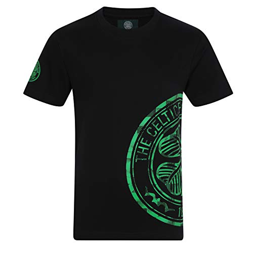Celtic FC Official Soccer Gift Kids Graphic T-Shirt Black 2-3 Years