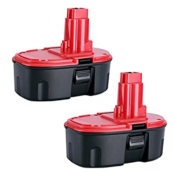Biswaye 2-Pack 4.0Ah DC9096 18V Battery Replacement for Dewalt 18V XRP Battery Pack DC9098 DC9099 DW9099 DE9096 DE9098 DW9095 DW9096 DW9098 DE9503 DE9039 DE9095 DC9096-2 NiCd Pod Style