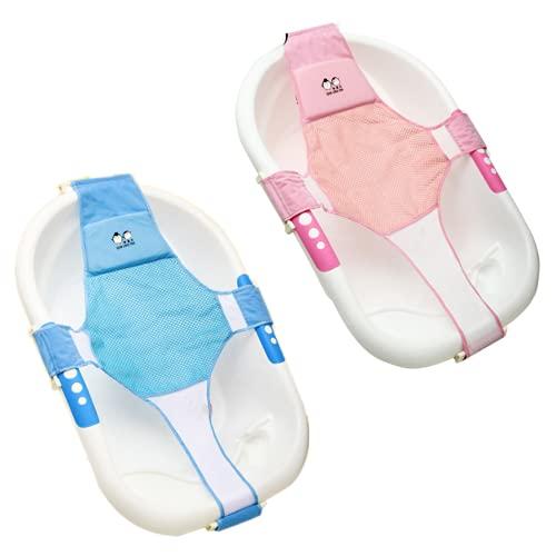 Hamaca Para Bañera,2pack Soporte Asientos Para Bañera Bebe Recién Nacido,Asiento de Ducha...