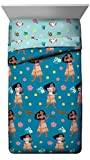 Jay Franco Disney Moana Flower Power Twin Comforter - Super Soft Kids Bedding Features Pua & HEI HEI - Fade Resistant Polyester Microfiber Fill (Official Disney Product)