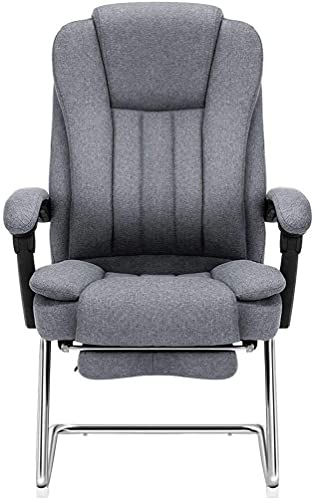 MHIBAX Gaming Chair Computer Chair Reclining Home Lunch Break Chair Study Chair Fabric Office Chair Ergonomic Bow Chair Loading 200Kg Gray 64 * 52.5 * 109cm Armchair