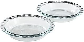 Pyrex Easy Grab Glass Pie Plate (9.5-Inch, 2-Pack) (Renewed)