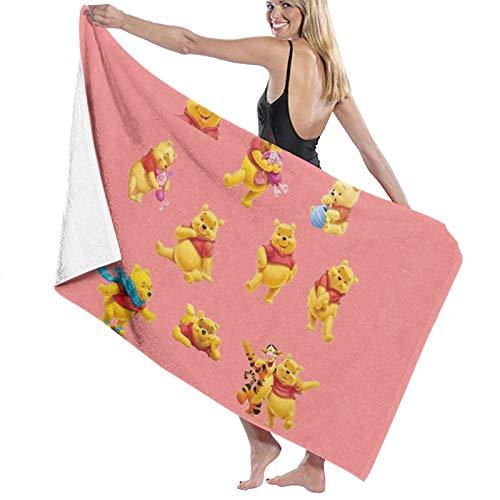 Winnie The Pooh Toallas de baño de secado rápido, suave, toalla de ducha de playa, 130 x 80 cm