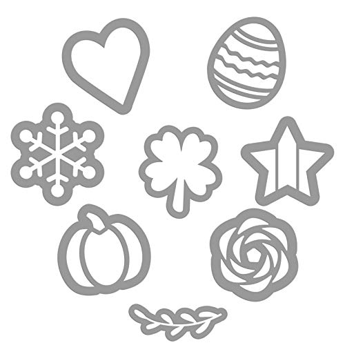 Magnetic Seasonal Stencils for Plata Chalkboards – 7 Decorative Holiday Season Templates for Crafting Vertical Outdoor Farmhouse Chalk Board Signs - Summer, Fall, Winter, Spring Easter Stencil