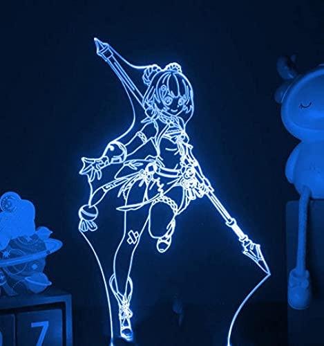 JYDNBGLS Meisjes Nachtlampje voor Meisjes Jongens Nachtlampje Gmae Figuur Lamp Verlichting Lamp Xiangling Genshin Impact…