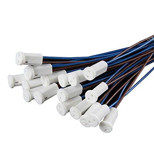 G4-Lampenfassungen BlueXp, G4-Lampensockel mit Keramik, Halter für G4-Lampen, Heimbedarf, 20Stück