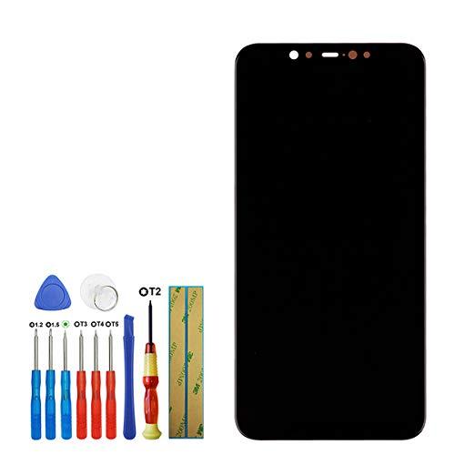 swark Pantalla Super AMOLED compatible con Xiaomi MI 8 M1803E1A de 6,21 pulgadas, pantalla táctil de repuesto (negro sin marco) con herramientas.