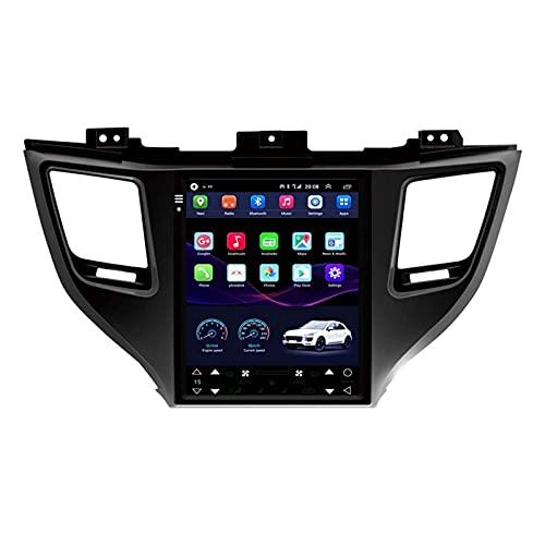 WY-CAR Tesla Model Android10 Autoradio per Hyundai Tucson / IX35 2015-2018 Multimedia Stereo Radio Radio Navigazione GPS, Controllo del Volante del Volante,8 core-4G+WiFi: 2+32G