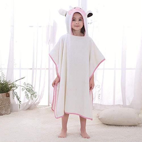 Baby jongens meisjes Hooded kerst Poncho Kids badhanddoek Cartoon dier zwemmen badjas katoen kinderen strandlaken # 8, koe