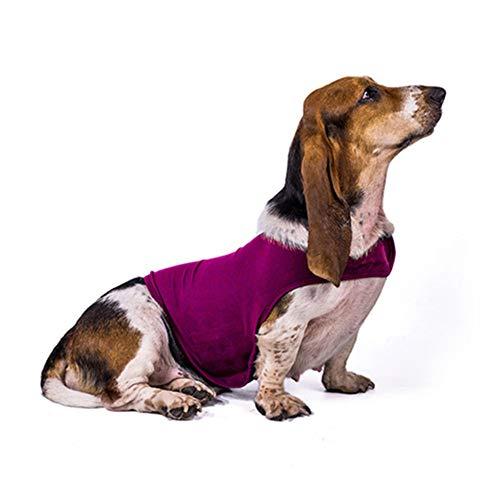 WPCASE Hunde Kleidung FüR Kleine Hunde Hundejacke Kleine Hunde Hundewintermantel Hundemantel Bulldogge Dackel Pullover Hundemantel Dackel OP-Kleid Für Hunde Panikgeschirr Für Hunde Rose-red,l