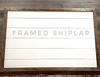 CELYCASY Farmhouse Style Large Framed Shiplap Sign