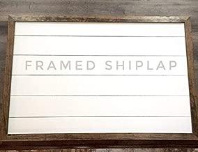 CELYCASY Farmhouse Style Large Framed Shiplap Sign