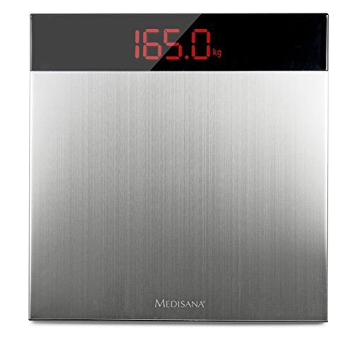 Medisana PS 460 digitale XL-Personenwaage bis 200 kg - Körperwaage zur Messung des Gewichts - Badezimmerwaage mit gehärtetem Edelstahl Sicherheitsglas und Hochpräzisions-Sensoren - 40433