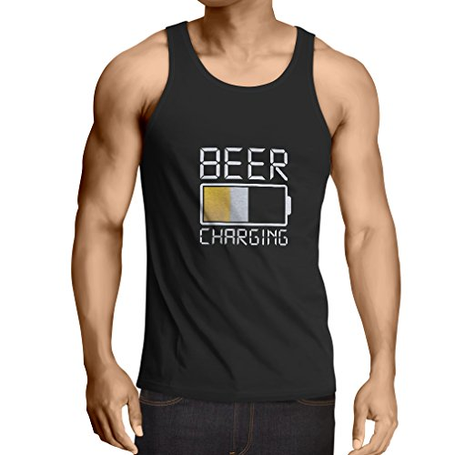 lepni.me Camisetas de Tirantes para Hombre Necesito más Cerveza, Regalos para los Amantes de la Cerveza (XXX-Large Negro Multicolor)