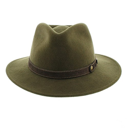 Votrechapeau–Sombrero fedora–fieltro plegable e impermeable–pétrus