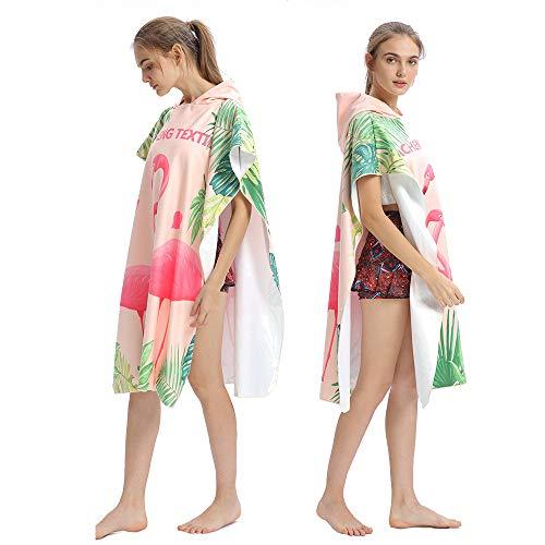 HUOFEIKE Ändern Robe Surf Poncho Für Frauen Männer Superleichten Tuch Poncho in Mikrofaser Kompakt Auch Als Strand Ändern Handtuch,B1