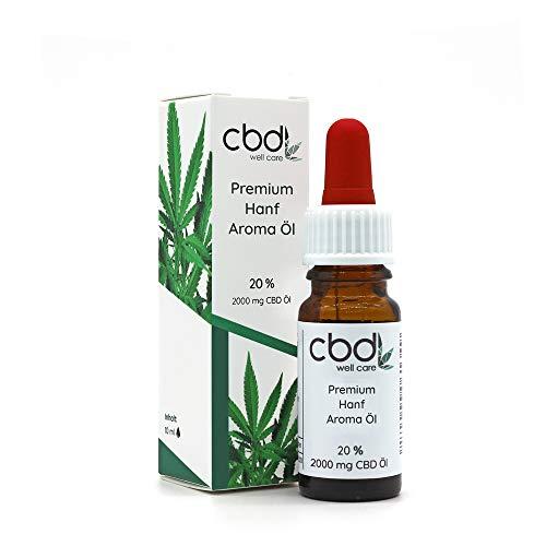 Hanfsamenöl I Well Care I 20% (2000 mg) I Premium Terpen-Konzentrat mit naürlichen Inhaltsstoffen