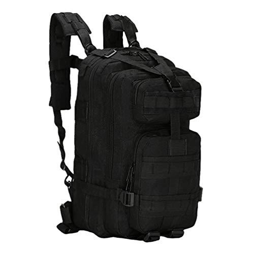 Kaiyei Militär Taktische 3 Day 30L Rucksack Camouflage Molle Laptop Pack Wasserdicht Dauerhaft Outdoor Reisen Survival Assault Wanderrucksack Kampfrucksack Schwarz