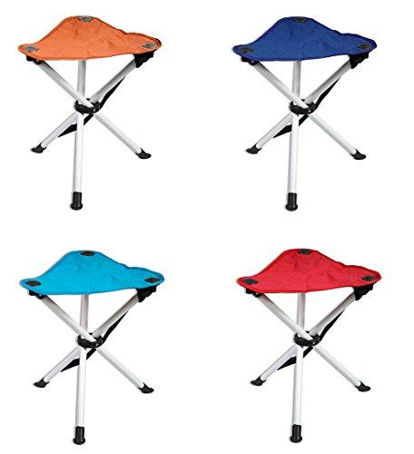 Vetrineinrete® Sedia Sgabello Pieghevole da Campeggio Pesca e Spiaggia richiudibile e Portatile Seduta da Pescatore 40 cm M25