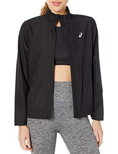 ASICS Damen Silver Jacket Jacke, Performance Black, X-Large