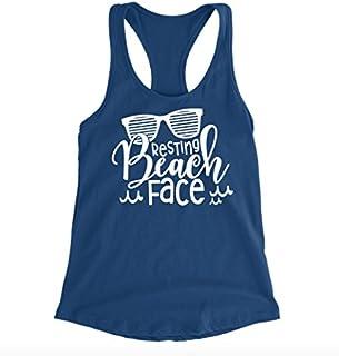 Resting Beach Face Women's Racerback Tank Top