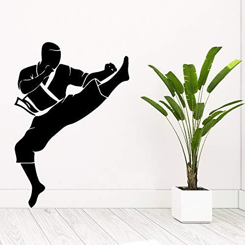 wZUN Hermosas Pegatinas de Pared de Karate, Moda, Dormitorio, guardería, decoración, Vinilo, Arte, calcomanía 28X40cm