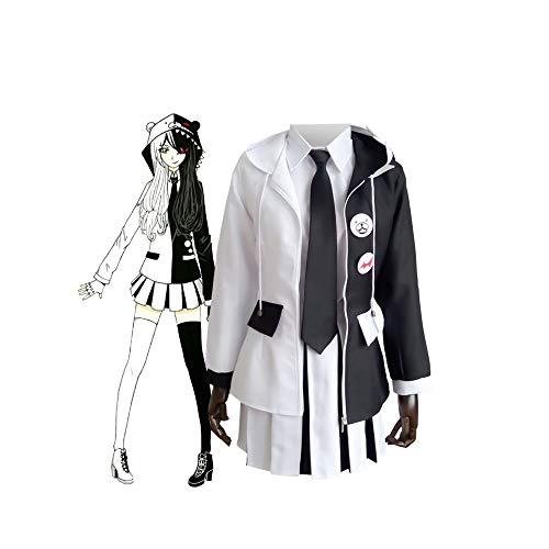 Anime Danganronpa Kostüm Monokuma Uniform Cosplay Halloween Party Phantasie Unisex Anzug Komplettset, Cosplay Kostüm High School Uniform Rock Kleid - Party Kostüm