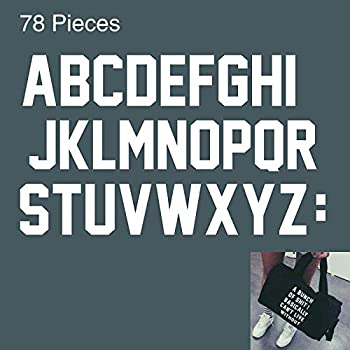 Iron-On Letters 2 Inch A to Z,78 Pieces Heat Transfer Letters Paper for Clothing Fabric & T Shirts.