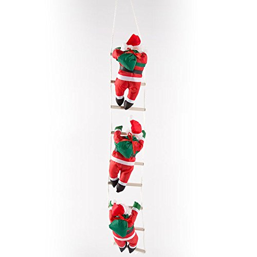 Kicode TOPmountain Creativo Babbo Natale Climbing Rope Ladder Xmas Trees Pendente Hanging Home Decor Ornament