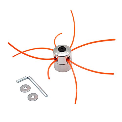 SWNKDG Aluminium Fadenkopf Rasentrimmer Kopf Doppelfadenkopf Fadenspule Nylonfaden für Motorsense Rasentrimmer Freischneider