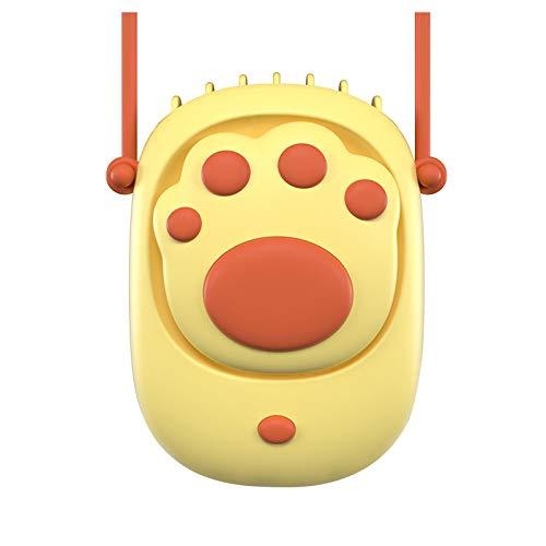 Zilosconcy Ventilator Leise Fan Katzenpfote Hängender Hals Kinder Mini hängender Blattloser Fauler USB tragbarer süßer Lüfter Mini-Luftkühler