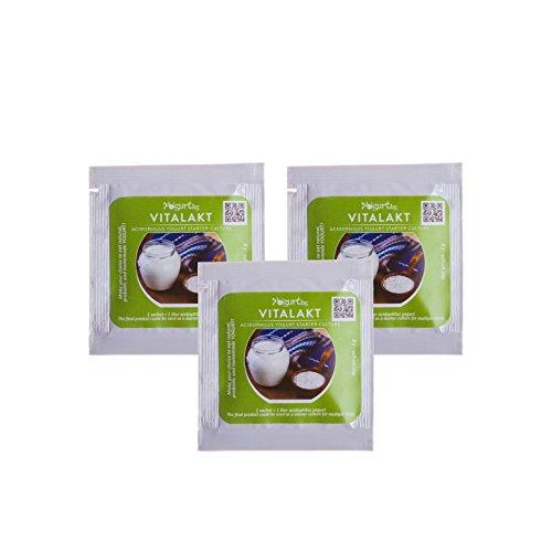 Acidophilus Yogurt Starter Culture - Pack de 3 bolsas para la fabricación en casa – 3 litros Acidophilus Probiótic