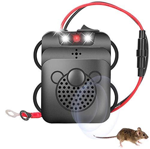Repellente Topi per Auto,Guiseapue Ultrasuoni Repellente Contro Topi 12V,Repellente a ultrasuoni Contro Animali Selvatici Repellente Animali Contro Il Ratto,Visone ECC