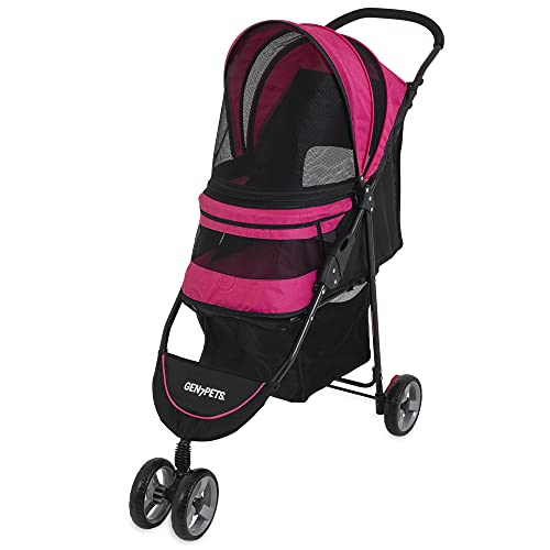Gen7 Regal Plus Pet Stroller for Dogs and Cats – Lightweight, Compact and Portable with Durable...