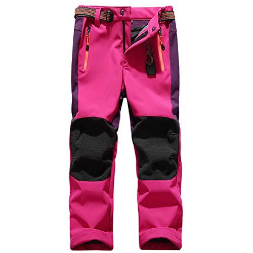 SEEU Kinder Outdoorhose Herren Winter Reise Wanderhose Camping Skateboardfahren Selbst Fahren Klettern Trekkinghose Rose Rot L
