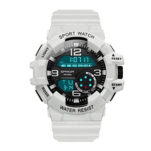 Reloj electrónico deportivo batería original, relojes juveniles luminosos impermeables para correr para hombres, reloj despertador multifunción de moda Reloj pulsera indicador 24horas y esfera redonda